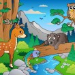 thumbnail of Forest scene with various animals 1