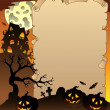 thumbnail of Parchment with Halloween topic 1