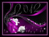 Frohes neues Jahr 2012-Hintergrund