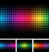 Abstract background colorful lights on black vector
