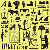 Ancient Egyptian symbols and signsCollection of different silhouettes