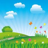 Beautiful spring landscape