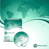 Software box and cd/dvd cover vector template