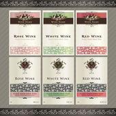 Set of wine label templates