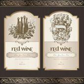Sada víno štítků