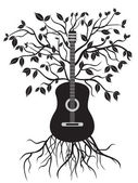 Isolated guitar tree on white background