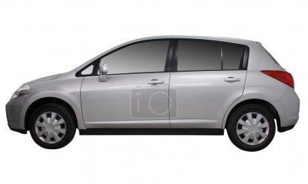Grat metallic car isolated on white