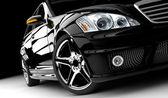černé auto