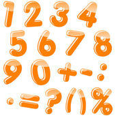 Set of numbers and punctuation marks Vector 10 EPS
