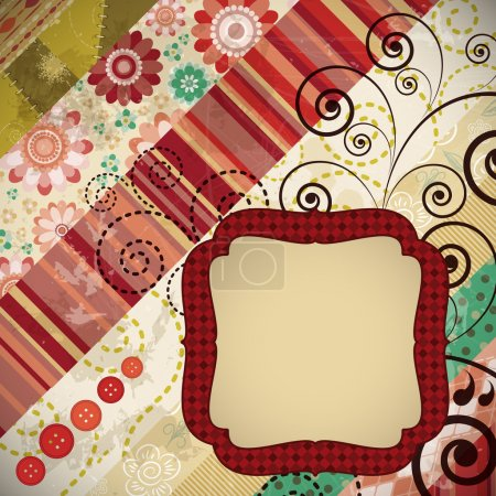 Постер, плакат: Scrap background made in the classic patchwork technique, холст на подрамнике