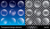 Set of transparent bubbles Vector illustration for design