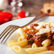 thumbnail of Penne bolognese and parmigiano cheese