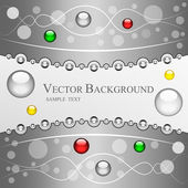 Nice festive background with lines and shiny colored balls