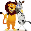 thumbnail of Zebra and lion