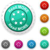 Read more award button Vector