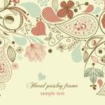thumbnail of Floral frame, paisley motif