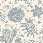 Abstract seamless retro floral pattern vector illustration