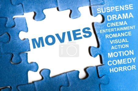 Постер, плакат: Movies puzzle, холст на подрамнике
