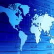 thumbnail of Global economy world map background.