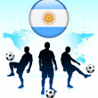 thumbnail of Argentina Flag Icon on Internet Button with Soccer Team