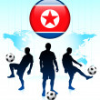 thumbnail of Korea Flag Icon on Internet Button with Soccer Team