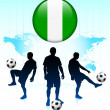 thumbnail of Nigeria Flag Icon on Internet Button with Soccer Team