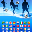 thumbnail of Soccer Team on Abstract Blue Background