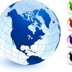 thumbnail of Multi Colored Globe set