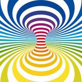 Rainbow stripes projection on torus Vector illustration