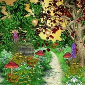 Enchanted pathway in the middle of the forest