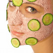 thumbnail of Woman with a facial mask