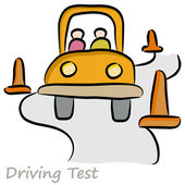 An image of a driver taking a driving test