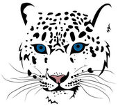 Abstract vector illustration of snow leopard bars