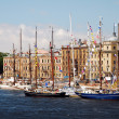 Постер, плакат: Ships in berth during The Tall Ships Races Baltic