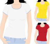Women's t-shirt template vector