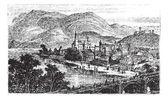 Bingen am Rhein town in Rhineland-Palatinate Germany old engraved illustration of the town Bingen am Rhein in the 1890s