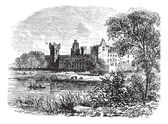 Ruins of Linlithgow Palace West Lothian Scotland vintage engraved illustration Trousset encyclopedia (1886 - 1891)
