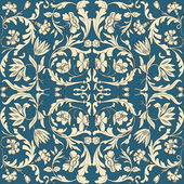 Seamless pattern chinese and white elements in blue background