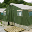 thumbnail of Green tent camp in Pyrenees for  Santiago pilgrims