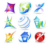 Collection of colour icons Vector illustration