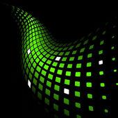 Abstraktní dynamické zelené pozadí