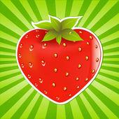 Strawberry And Sunburst Vector Illustration