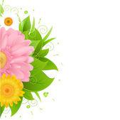 Astratti fiori e della macchia, isolato su sfondo bianco, vettoriale illustrazione