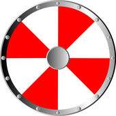 Round shield isolated on white background