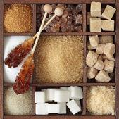 Különböző típusú cukor