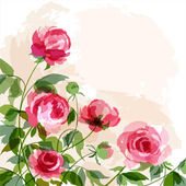 Romantic background with peonies EPS 10