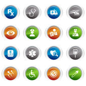 Glossy buttons - medical icons 02