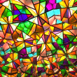 thumbnail of Beautiful colored glass windows with asymetric pieces