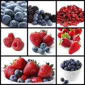 Berry Fruits Collage