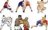 Bojové sporty  stolní tenis postavy